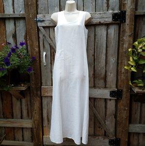 Flax Linen Sleeveless Maxi Dress Minimalist p
